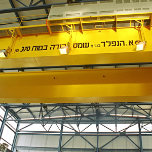 חברת חשמל עגורני 370 טון