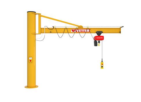עגורן זרוע עם עמוד תמיכה עלית דגם PS